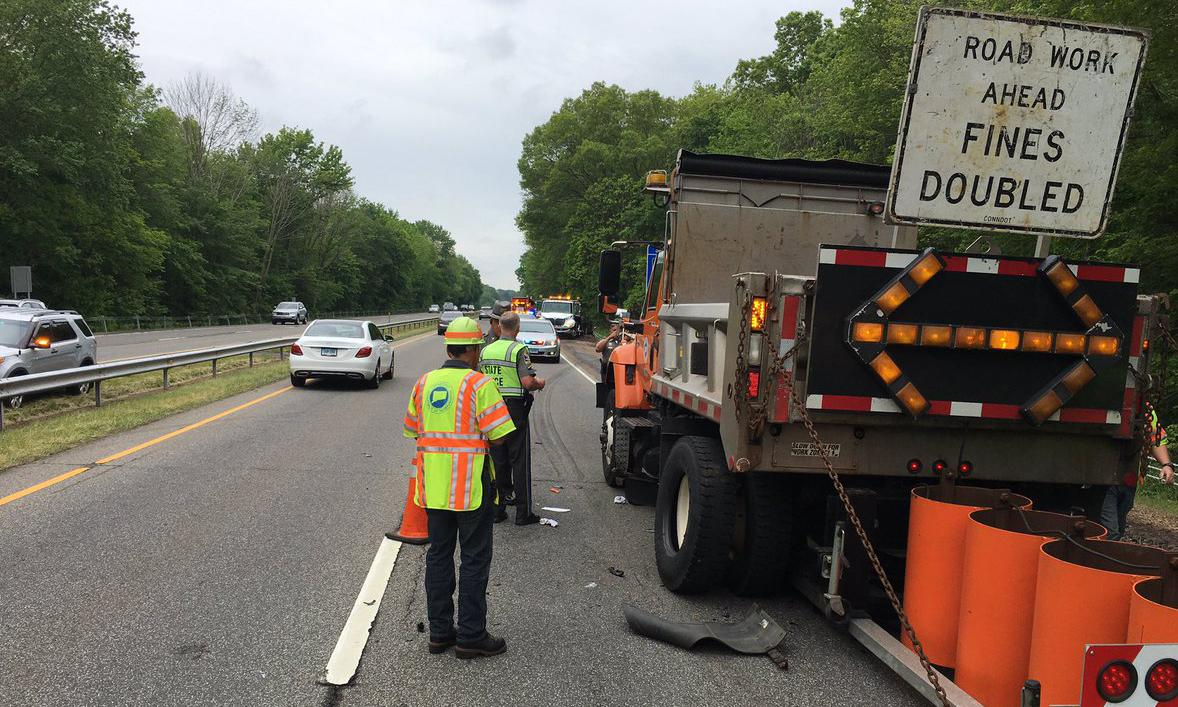 State Police: Car hits DOT worker on Route 15, causing injury