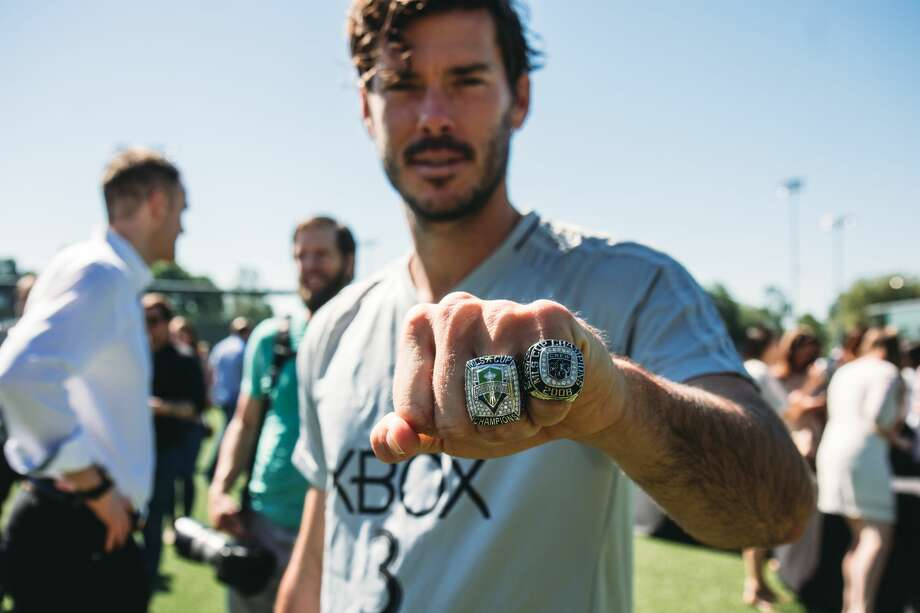 The Seattle Sounders receive their MLS Cup championship rings during a private ceremony to all players, technical staff and front office employees who were with the team for its historic 2016 season. Photo: Dan Poss