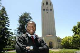 Tyrone McGraw, a student at Stanford University, is graduating with a Bachelor's degree in Arts with honors. McGraw was a track star with a rough upbringing living in Hunter's Point in San Francisco. He received several sports and other scholarships to pay for his six-years of tuition.