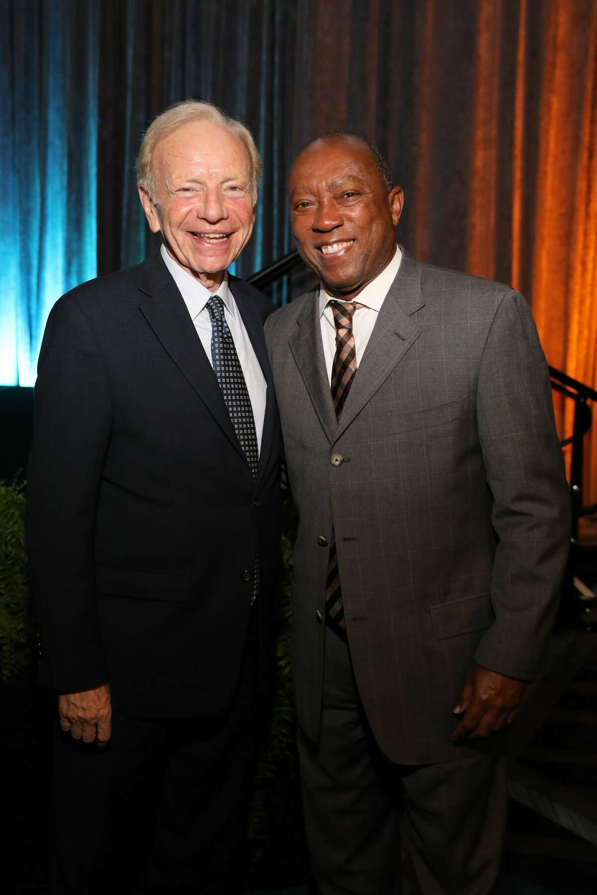 Mayor Sylvester Turner and Sen. Joe Lieberman