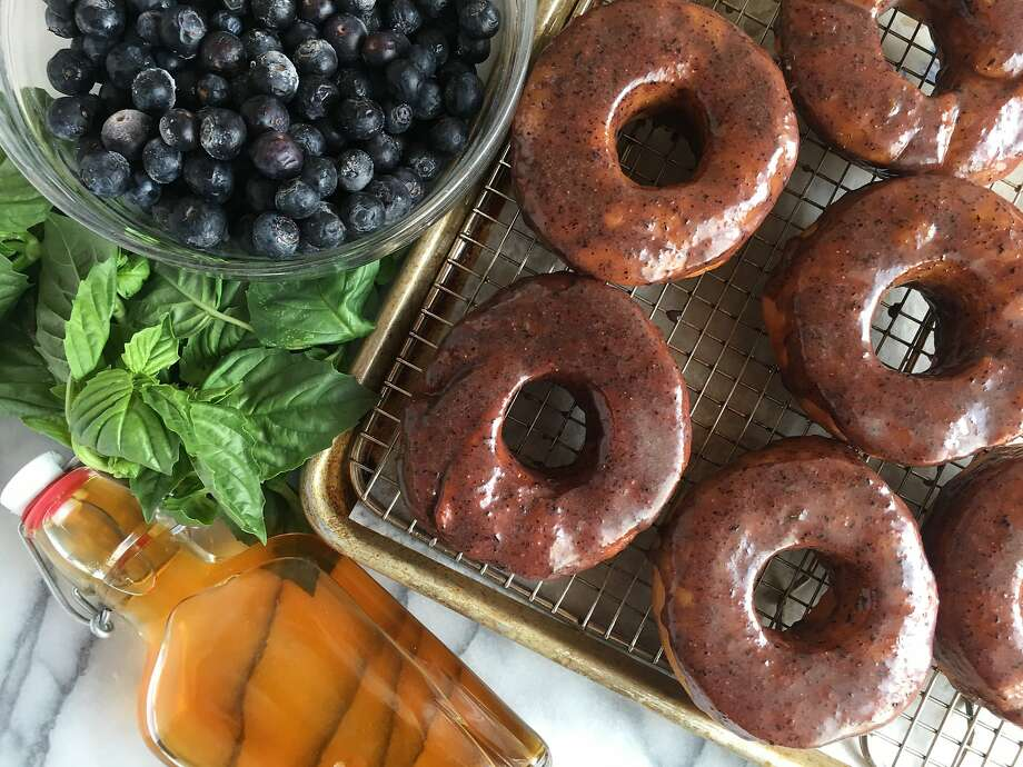 You can search out some free doughnuts with the list below, or make your own with this Brioche Doughnuts with Blueberry-Bourbon-Basil Glazerecipeor following the tips in the following photos. Photo: Sarah Fritsche
