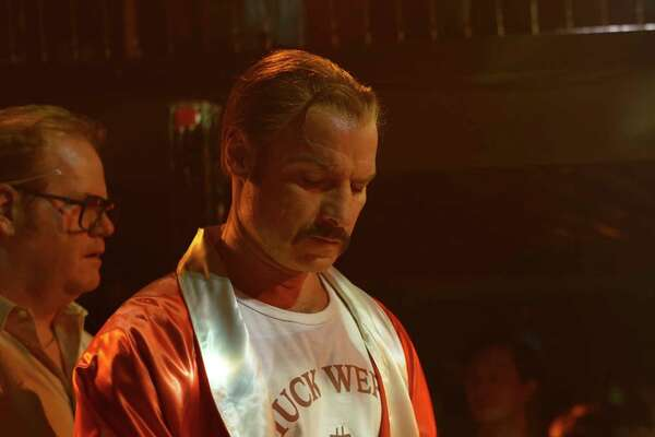 """This image released by IFC Films shows Liev Schreiber portraying boxer Chuck Wepner in a scene from the film, """"Chuck,"""" opening in limited release on Friday. (Sarah Shatz/IFC Films via AP) ORG XMIT: NYET408"""