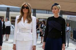 Ivanka Trump (R), the daughter of US President Donald Trump and first lady Melania Trump (2nd R) walk at the Western Wall plaza in Jerusalems Old City on May 22, 2017. / AFP PHOTO / POOL / Heidi Levine        (Photo credit should read HEIDI LEVINE/AFP/Getty Images)