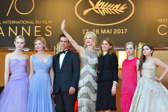 (From L) US actress Elle Fanning, US actress Kirsten Dunst, Irish actor Colin Farrell, Australian-US actress Nicole Kidman, US director Sofia Coppola, Australian actress Angourie Rice and US actress Addison Riecke pose as they arrive on May 24, 2017 for the screening of the film 'The Beguiled' at the 70th edition of the Cannes Film Festival in Cannes, southern France.  / AFP PHOTO / LOIC VENANCE        (Photo credit should read LOIC VENANCE/AFP/Getty Images)