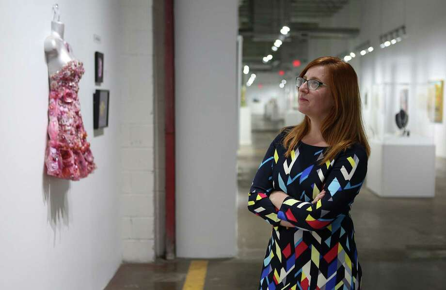 Washington Avenue Arts District Director Susannah Mitchell in 2015 at Silver Street Studios, one of several major artists' compounds in the Washington Avenue Arts District. Photo: Mayra Beltran, Staff / © 2015 Houston Chronicle