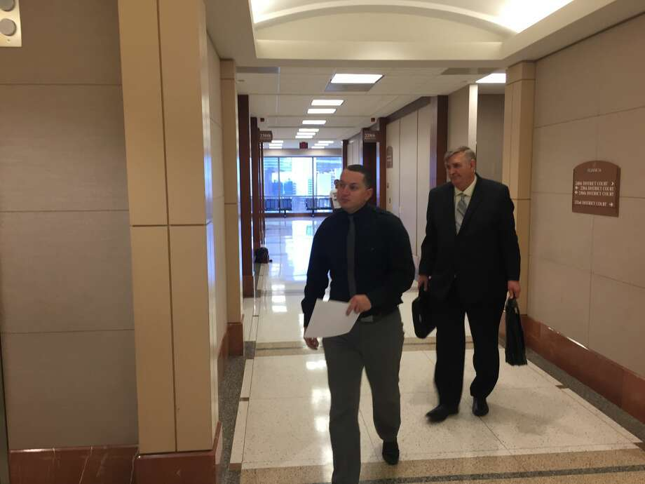 Jacob Ryan Delgadillo arrives in court Wednesday to plead guilty to having an improper relationship with a 14-year-old student. Photo: Houston Chronicle