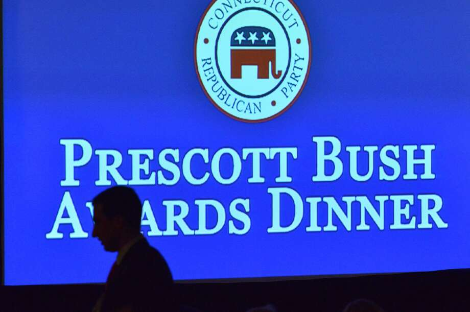 The 36th annual Prescott Bush Awards Dinner at the Stamford Hilton, Stamford, Conn., Thursday night, April 10, 2014. The Connecticut Republican Party bestowed two-time U.S. Senate candidate Linda McMahon with its highest honor. The former wrestling executive was chosen as this year's recipient of the Prescott Bush Award, named in honor of the late Prescott Bush Sr. of Greenwich, Conn., a former U.S. Senator and father of former President George H. W. Bush. Former Florida Gov. Jeb Bush, grandson of Prescott Bush, was the keynote speaker at the event. Photo: Bob Luckey / Bob Luckey / Greenwich Time