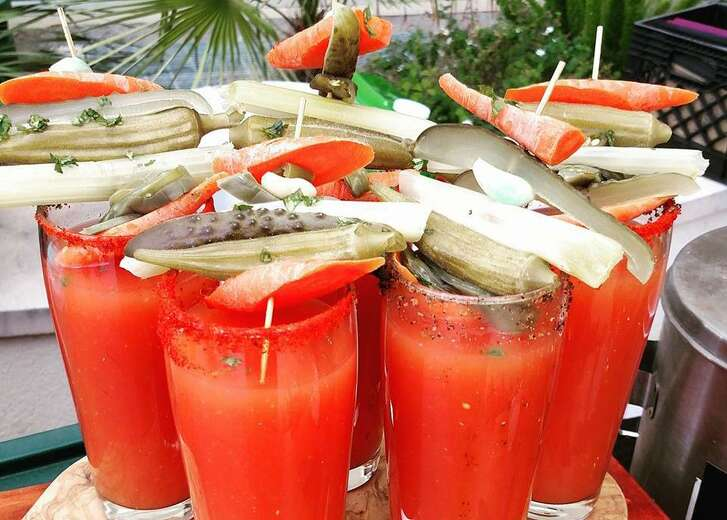 The Madge's Bloody Mary is created with a fermented spicy bloody mary mix.