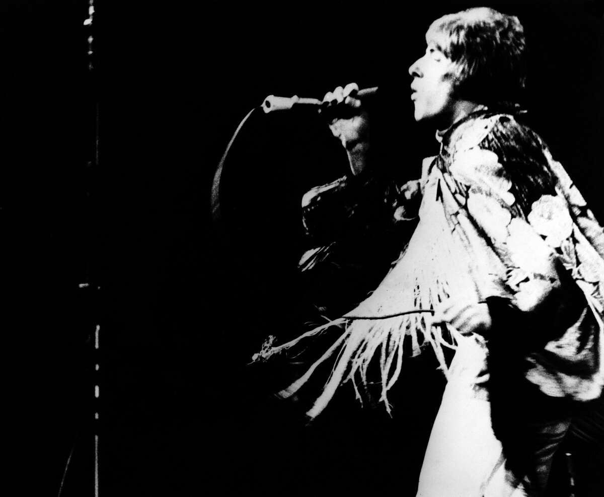 Photo of Roger Daltrey performing on stage at the1967MontereyInternationalPop Festival.