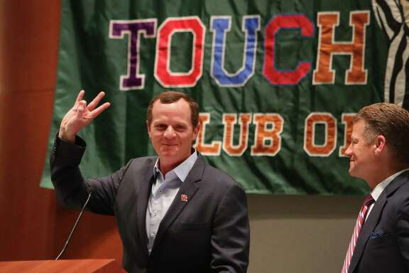 Major Applewhite spoke at The Touchdown Club of Houston and Independent Bank University of Houston Luncheon Wednesday, May 24, 2017, in Houston. ( Steve Gonzales  / Houston Chronicle )