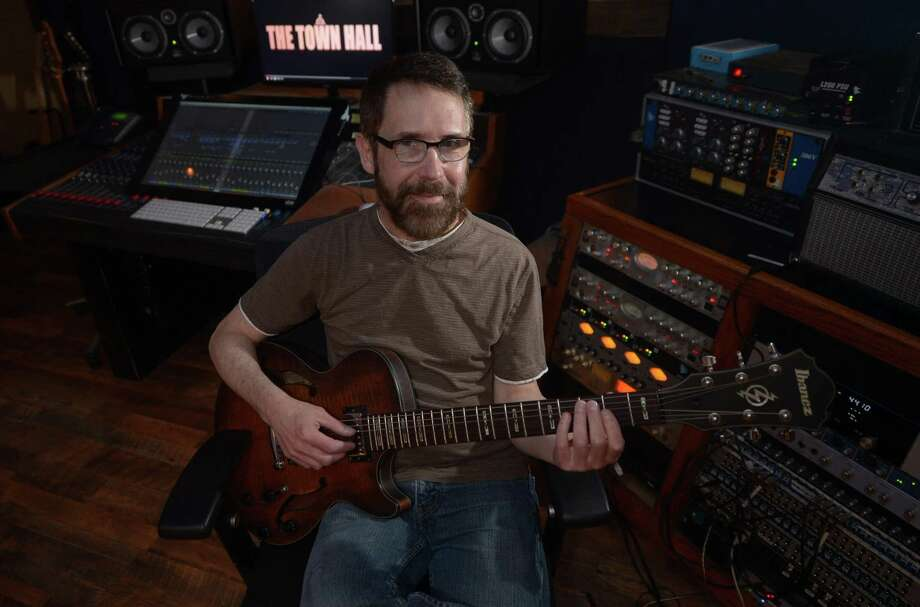 Musican Brian Larney who is preparing to release a new album at Norwalk's Factory Underground Studio Thursday, May 18, 2017, in Norwalk, Conn. For his day job, Brian Larney is a software engineer at the Norwalk-based company, Factset. I Photo: Erik Trautmann / Hearst Connecticut Media / Norwalk Hour