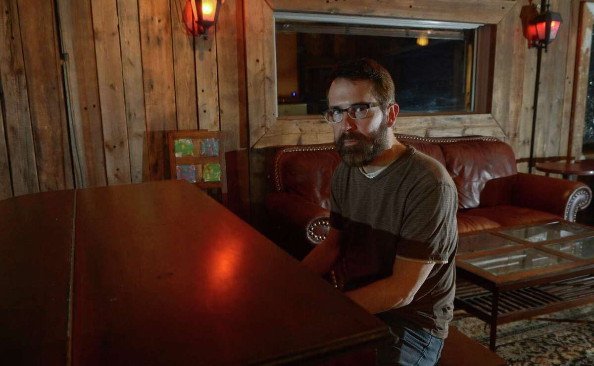 Musican Brian Larney who is preparing to release a new album at Norwalk?'s Factory Underground Studio Thursday, May 18, 2017, in Norwalk, Conn. For his day job, Brian Larney is a software engineer at the Norwalk-based company, Factset. I