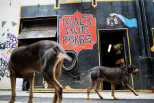 Black Dog Forge, a blacksmith shop in Belltown and home to practice space of Pearl Jam, Soundgarden and numerous other bands, is in danger of sale, photographed on Wednesday, May 24, 2017.