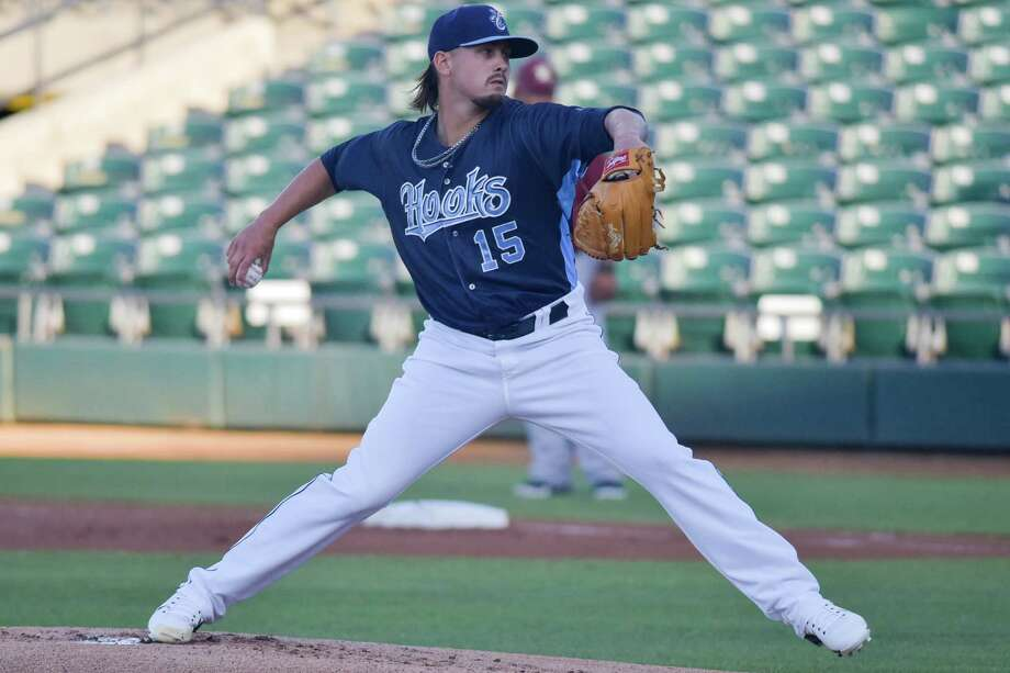 After refining his command, Astros minor leaguer Dean Deetz has thrived on the mound at Class AA Corpus Christi this year. Photo: Courtesy Corpus Christi Hooks