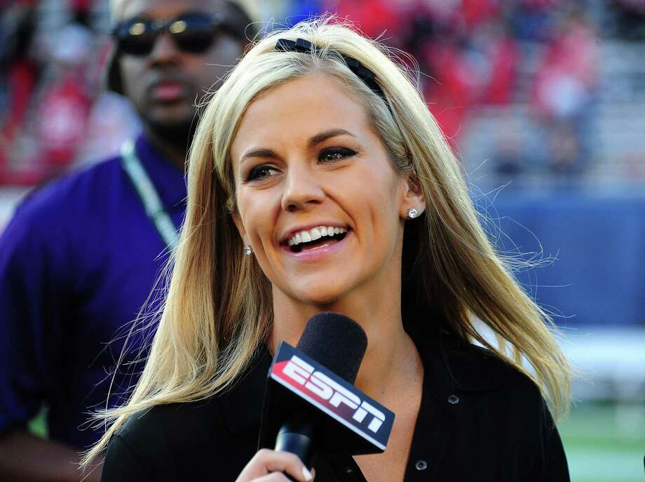 ORLANDO, FL - JANUARY 1: Samantha Ponder gets set to do postgame interviews after the Capital One Bowl between the Georgia Bulldogs and the Nebraska Cornhuskers at the Citrus Bowl on January 1, 2013 in Orlando, Florida. (Photo by Scott Cunningham/Getty Images) Photo: Scott Cunningham, Contributor / 2013 Scott Cunningham