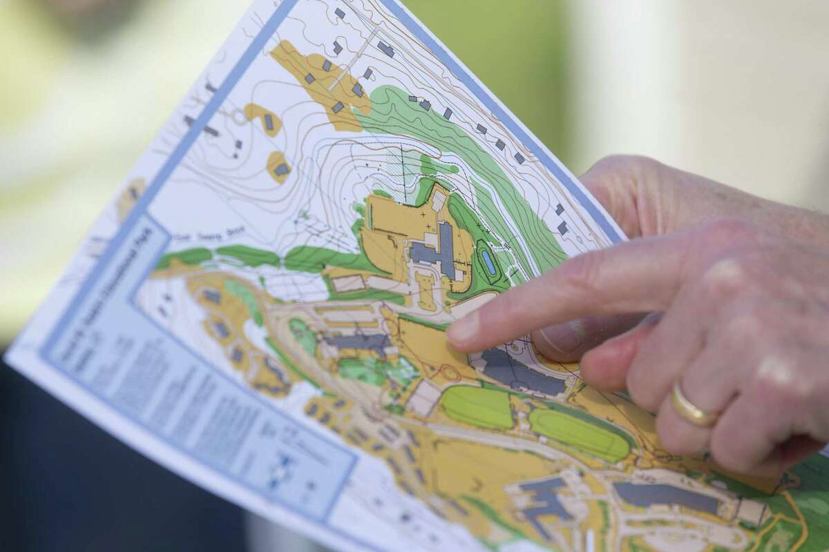 Maps of the Bethel schools' campus were handed out at a World Orienteering Day celebration sponsored by the Western Connecticut Orienteering Club at Rockwell School in Bethel, Conn. on Wednesday, May 24.