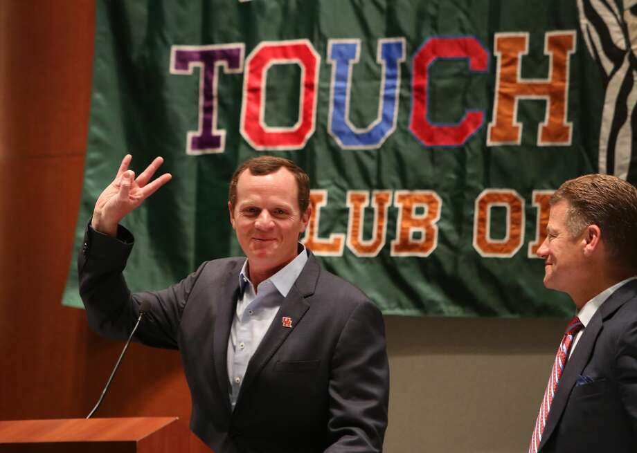 Major Applewhite spoke at The Touchdown Club of Houston and Independent Bank University of Houston Luncheon Wednesday, May 24, 2017, in Houston. ( Steve Gonzales  / Houston Chronicle ) Photo: Steve Gonzales/Houston Chronicle