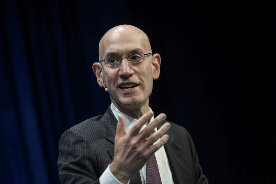 Adam Silver, commissioner of the National Basketball League (NBA), speaks during the Milken Institute Global Conference in Beverly Hills, California, U.S., on Tuesday, May 2, 2017. The conference is a unique setting that convenes individuals with the capital, power and influence to move the world forward meet face-to-face with those whose expertise and creativity are reinventing industry, philanthropy and media. Photographer: David Paul Morris/Bloomberg ORG XMIT: 700042700 Photo: David Paul Morris / © 2017 Bloomberg Finance LP