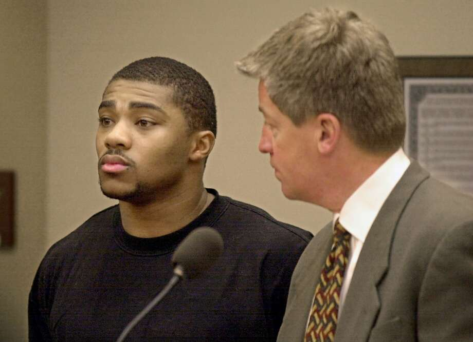 Michael Bennett at a court hearing in 2001. Photo: ANDY MANIS, AP