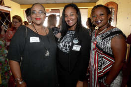 Karen Poullard, Kimberly Williams, and Kerryn Perkins were at the Celebrating Women in Business mixer at Cotton Creek Winery Wednesday. The get-together offered area business women the opportunity to meet with one another and network. Photo taken Wednesday, May 24, 2017 Kim Brent/The Enterprise