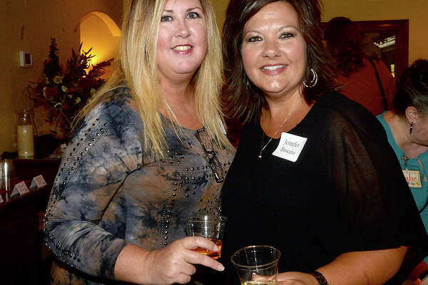Annette Reedy and Jennifer Brocato were at the Celebrating Women in Business mixer at Cotton Creek Winery Wednesday. The get-together offered area business women the opportunity to meet with one another and network. Photo taken Wednesday, May 24, 2017 Kim Brent/The Enterprise
