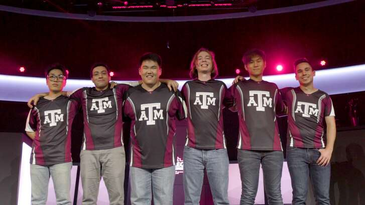 Comprising Texas A&M's esports team are, from left, Yoonguen Shin, Youssef Elmasry, Andrew Oh, Joey Bowers, Anthony Cui and Ryan O'Beirne.