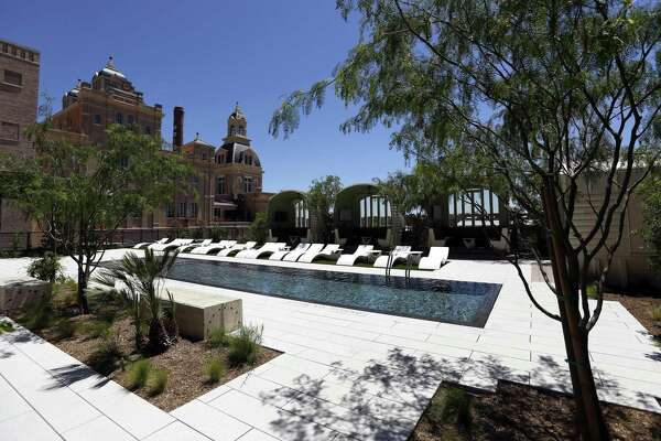 The fifth-floor rooftop pool at Cellars.