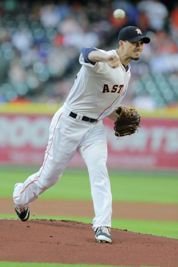 Houston Astros starting pitcher Charlie Morton went on the 10-day disabled list on Sunday, May 28, 2017, with a strained lat muscle. Photo: Elizabeth Conley, Staff / © 2017 Houston Chronicle