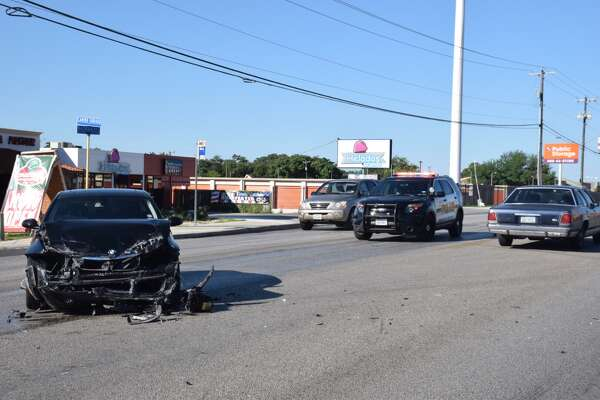 A woman was hospitalized Thursday, May 25, 2017, after a 4-vehicle crash in the Northeast Side.
