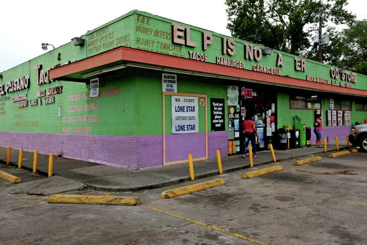 El Paisano Taqueria Food Store along the 400 block of Crosstimbers St. in the Independence Heights neighborhood Sunday, May 10, 2015, in Houston, Texas. The convenience store sells the limited food products along with a small cafeteria style restaurant selling Mexican food. The neighborhood lacks basic services; grocery store, library, medical clinic, YMCA, etc.