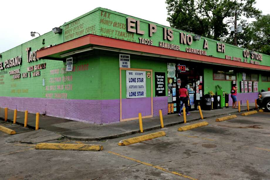 El Paisano Taqueria Food Store in Independence Heights sells limited food products along with a small cafeteria-style restaurant selling Mexican food. Photo: Gary Coronado, Houston Chronicle / © 2015 Houston Chronicle