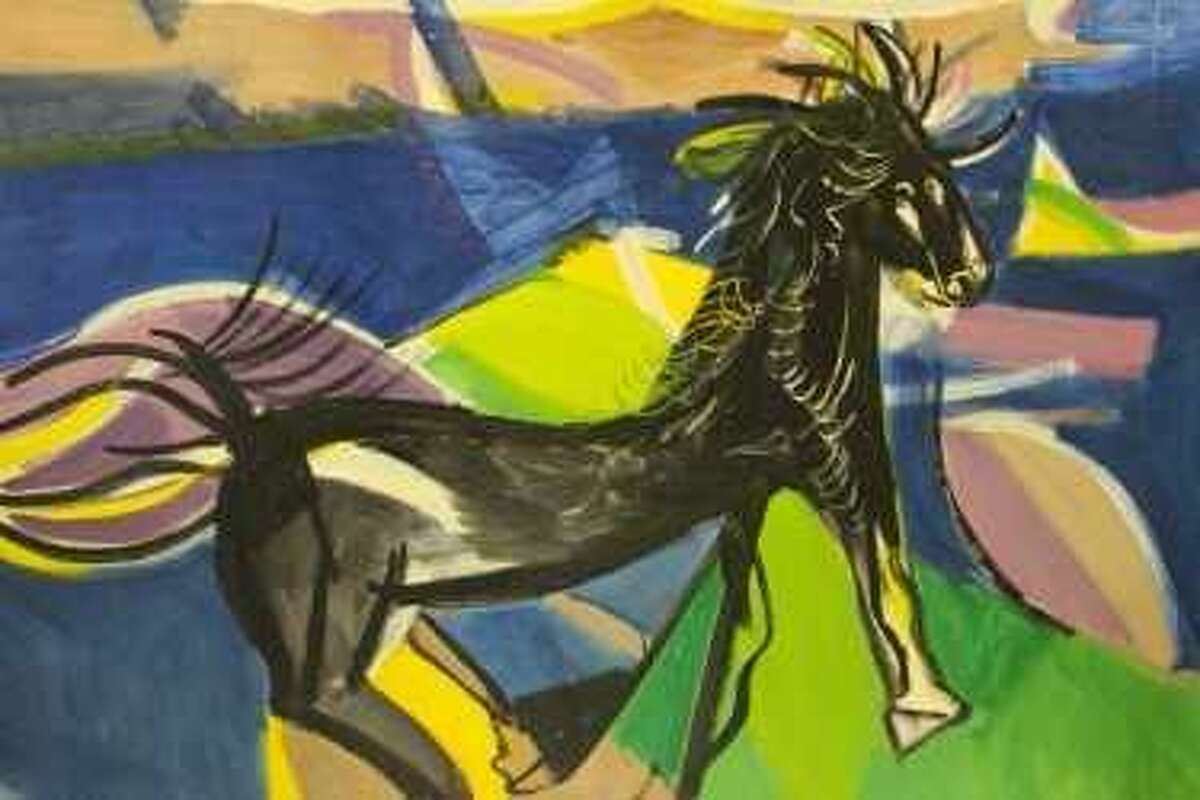 """?""""Wild Horse?"""" by American contemporary artist Ben Benn (1884-1983) is one of 50 paintings in Wilton Library?'s ?""""Branchville SoHo Gallery Estate Art Exhibition,?"""" opening Friday, June 9, from 6 to 7:30 p.m."""
