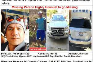 Piseth Chhay, an Uber driver from San Francisco, was last seen on May 14. His silver 2008 Mercedes SUV was found abandoned near a homeless encampment in the Bayview.