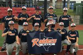 "The Katy Raiders won the 2017 April Fools Weekend Classic Gold Championship at Big League Dreams in League City. Pictured are (top row, from left) David Carrillo, Daniel Villarreal, Simon Massi, Jhonnatan Ferrebus, Eli Stewart, (bottom row) Harrison Acquaro, Cam Kaminsky, Brett Dolejsi, Cole Neumann, Parker Booth and Nathan Fan. Blake Linseisen is not pictured. The team is coached by Ty ""Dead Bat"" Stuckey, Len Jones and Miguel Stewart. Peter Acquaro is the general manager."
