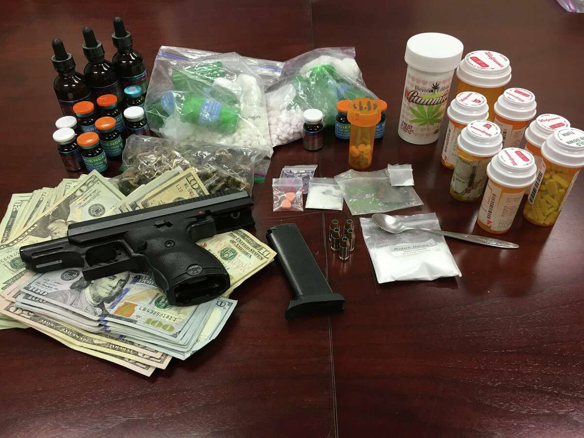 John Brandon Bryant, 34, of Katy was arrested by the Fort Bend County Sheriff's Office on May 24, 2017. Deputies say they found synthetic anabolic steroids, powder methamphetamine, ecstasy (MDMA), THC infused edibles, Psiloscybin (mushrooms), and a largeamount of prescription drugs.