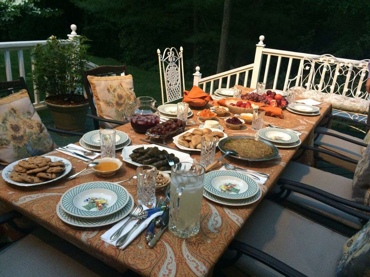 A meal, known as iftar, Golnar Sadeghi and her family in Wilton broke fast with during Ramadan in 2016.