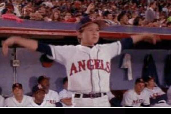 Down in the 2nd quarter, Eric Salinas who has been a fan since the Hemisfair Arena days, pulled a page out of Angels in the Outfield character Roger Bomman's book.