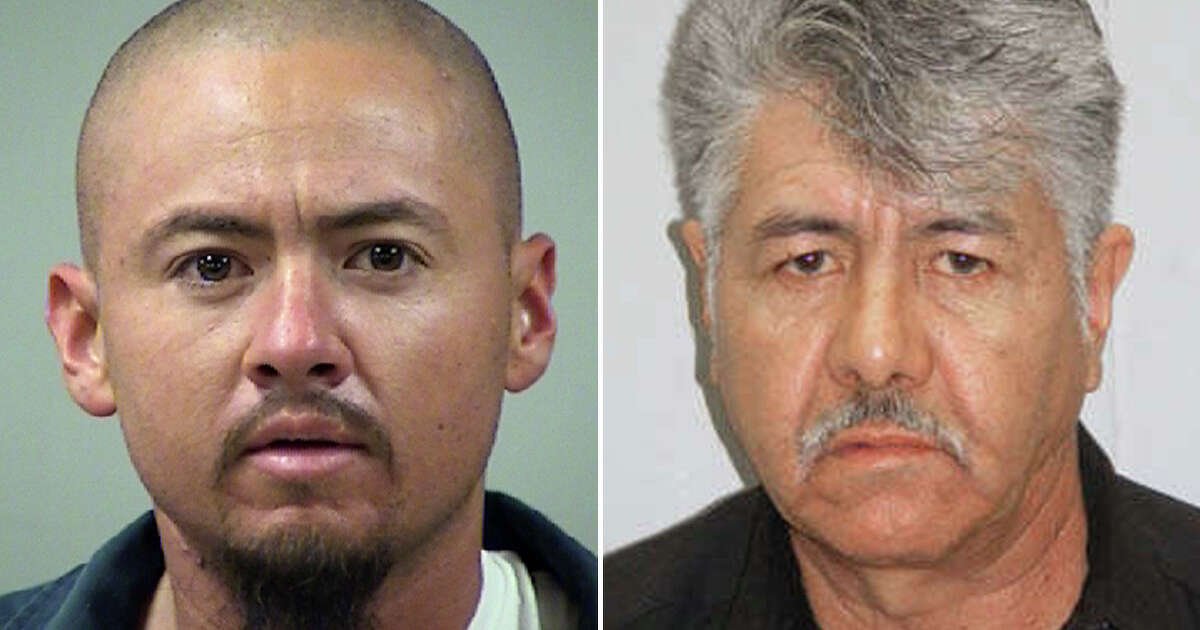 Placido Garay (right), 68, is the father of Anthony Garay, who was recently arrested on a charge of sexual assault after his minor relative was caught searching for pornography at school and told her teacher she was trying to learn about what Anthony allegedly does to her at night.
