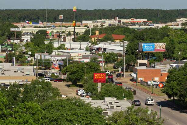 The city of Conroe is seen from the vantage point of Conroe Tower, Thursday, May, 25, 2017, in Conroe.