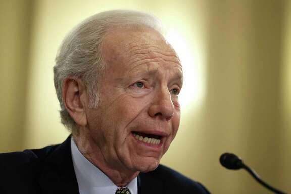 Former U.S. Sen. Joseph Lieberman (I-CT) testifies during a hearing before the House Homeland Security Committee in 2014. Lieberman has withdrawn from consideration for the role of FBI director.