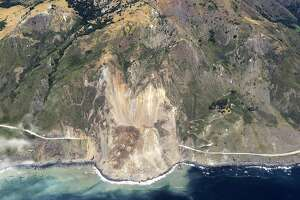 In a handout photo, a quarter-mile stretch of the scenic Pacific Coast Highway is buried in rock after a landslide, about 70 miles south of Monterey, Calif. No one was hurt in the landslide, but state officials described the damage as by far the worst they had ever seen, and said that it would take months to clear. (John Madonna via The New York Times)  -- NO SALES; FOR EDITORIAL USE ONLY WITH STORY SLUGGED CALIF-LANDSLIDE BY MELE FOR MAY 25, 2017. ALL OTHER USE PROHIBITED. �