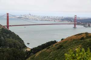 A view of the Golden Gate Bridge from Hawk Hill in Marin County, California, on Wednesday, May 24, 2017.