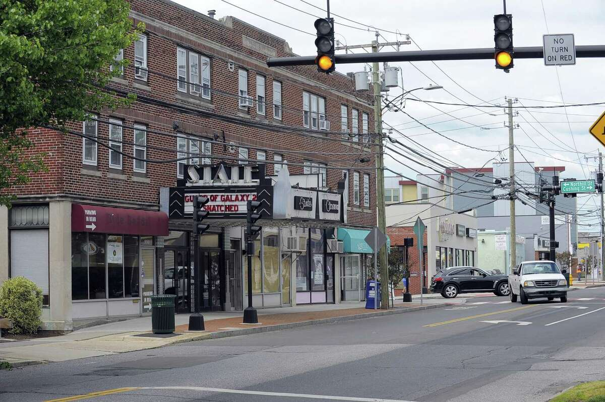 A view of the State Cinema theater on Hope Street in the Springdale section of Stamford, Conn. on Wednesday, May 24, 2017.