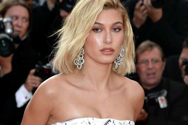 "Hailey Baldwin attends the ""The Beguiled"" screening  during the 70th annual Cannes Film Festival at Palais des Festivals on May 24, 2017 in Cannes, France.  (Photo by Anthony Harvey/FilmMagic)"