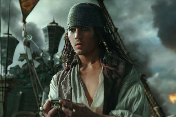 "Johnny Depp reprises the role of Jack Sparrow in ""Pirates of the Caribbean: Dead Men Tell No Tales."""