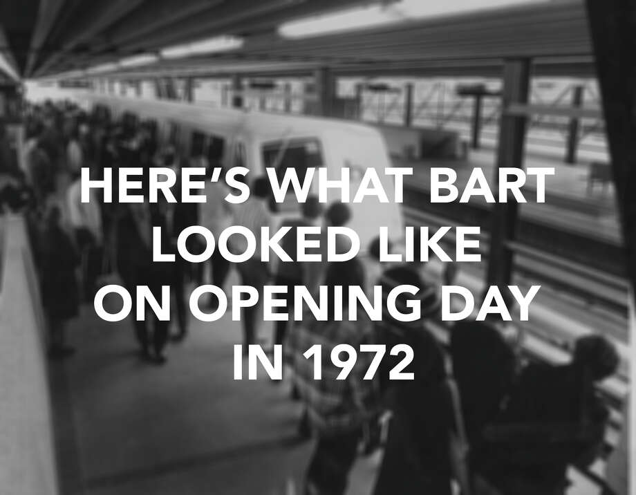 "Here's what BART looked like on its ""glorious"" opening day on September 11, 1972."