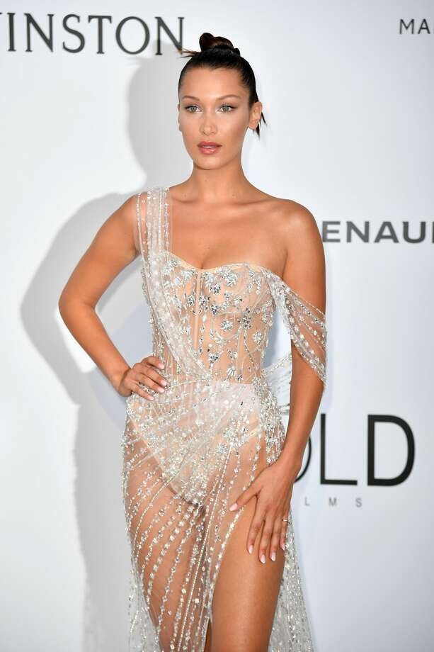 US model Bella Hadid poses as she arrives for the amfAR's 24th Cinema Against AIDS Gala on May 25, 2017.Take a look at how this dazzling look went totally wrong. Photo: ALBERTO PIZZOLI/AFP/Getty Images