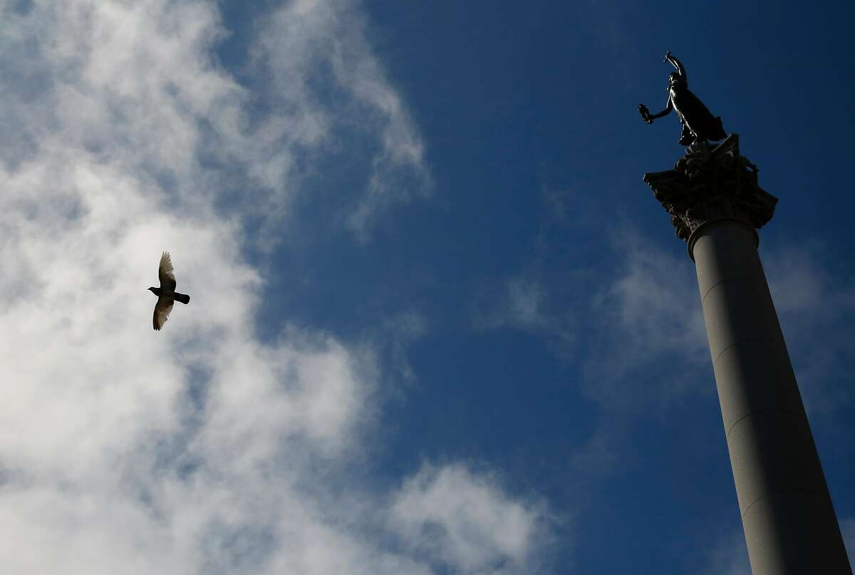 Dewey Monument in Union Square is named for Adm. George Dewey, who led the 1898 victory over Spanish naval forces in Manila Bay in the Spanish-American War.