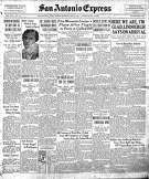 Front page of May 22, 1927 Express. American aviator Charles Lindbergh made the first solo nonstop flight across the Atlantic Ocean in 1927.
