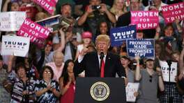 "President Donald Trump speaks to supporters during a ""Make America Great Again Rally"" atApril 29 in Harrisburg, Pennsylvania. The alienation that gave rise to Trump is not a cohesive movement capable of governance."